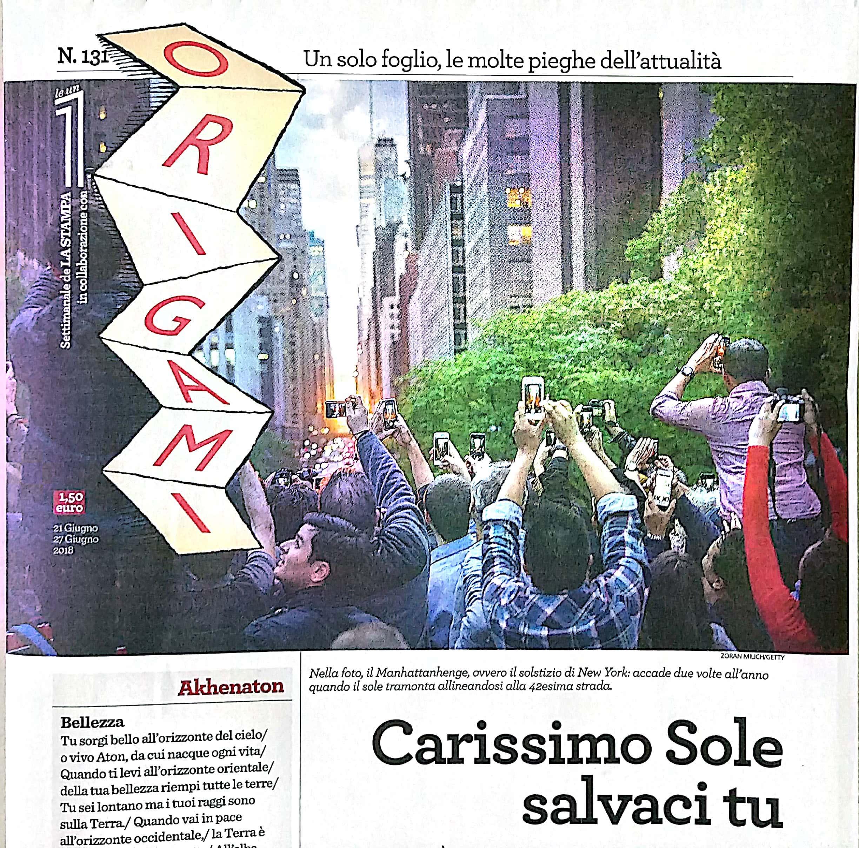 La Stampa - Origami
